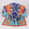 100x100 cm Sarga de Poliéster Bufandas Cuadradas de Seda de La Marca de Moda