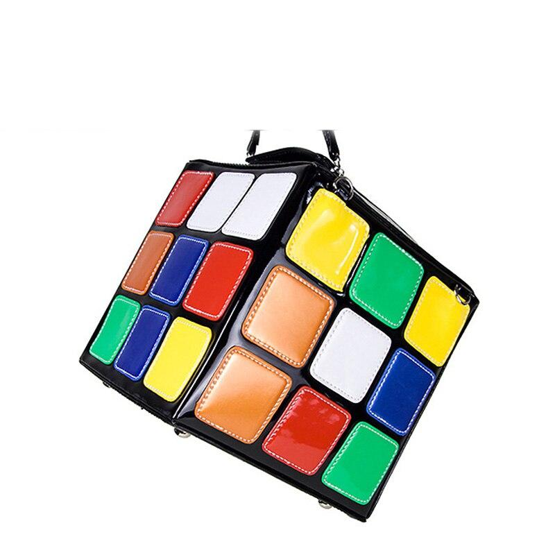 ФОТО Gamystye Women Hot Cute Magic Cube Bag Handbag Purse Fashion chain Handbags women messenger bag tote bags