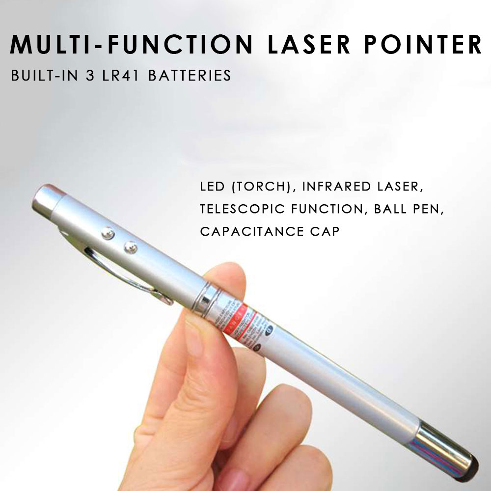Pointer Pen Electronic 14.8cm Laser Multifunctional Office Notebook Students EBook Reader PC Portable Extensible Lamp Stylus