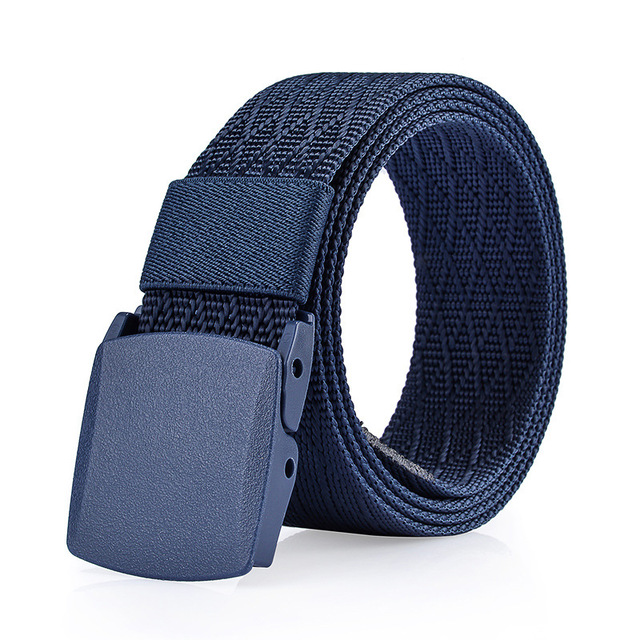 New Men's Canvas Belt No Metal anti allergy Tactics Woven Belt Canvas Belt Boys Students Casual Pants Belts Breathable For Jeans