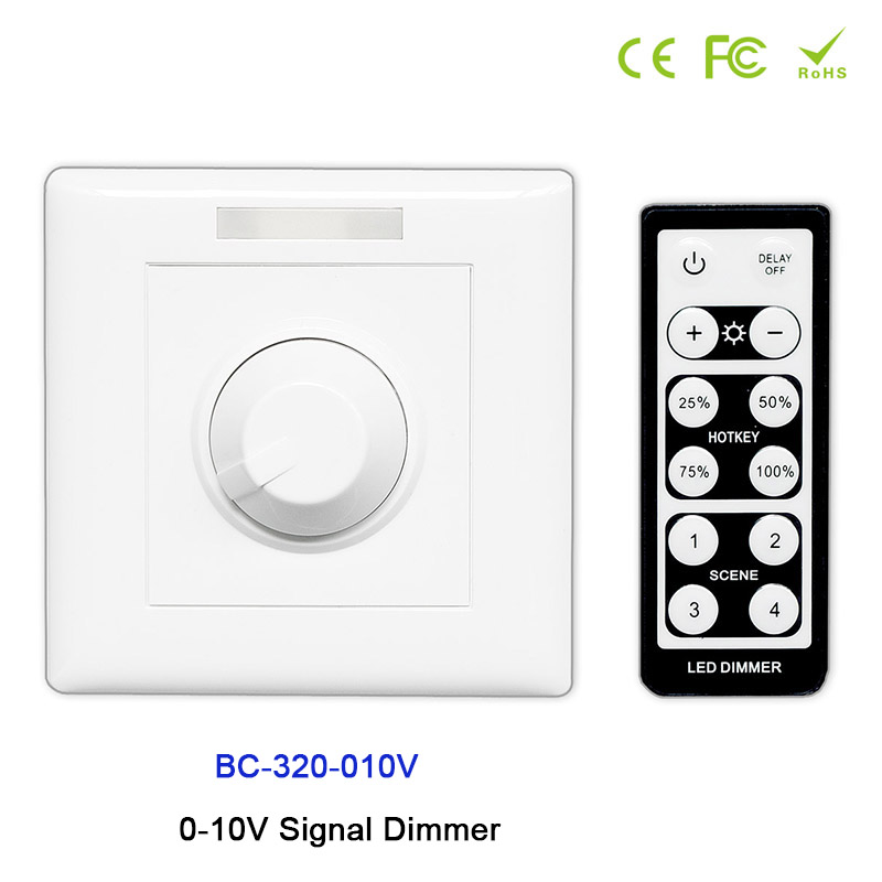 BC-320-010V Knob style led 0-10V Signal Dimmer Controller with IR remote;Signal Dimmer switch set for led strip light,DC12V-24V конверт детский kaiser синий меланж