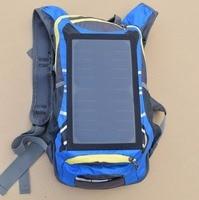 Boguangナイロン防水旅行ソーラーパワーブルー乗馬小さなバックパックで6v6wソーラーパネル用携帯電話充電器携
