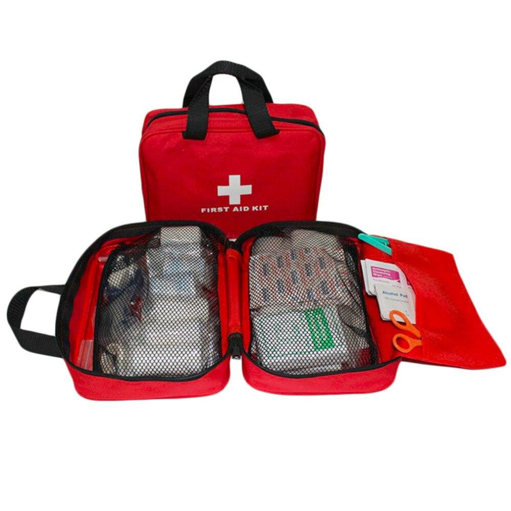 Envío Directo promoción de ventas deportes al aire libre Camping hogar emergencia médica Kit de primeros auxilios bolsa