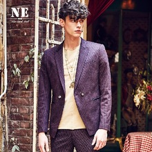 EARL JOEL high quality 2015 men super slim stripe autumn spring pocket slit young man england style wedding groom suits blazers