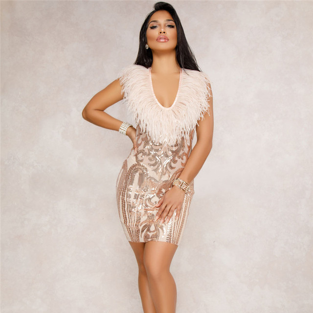 Soulmate 2018 Women Summer Sequined Sexy Club Sundress Casual