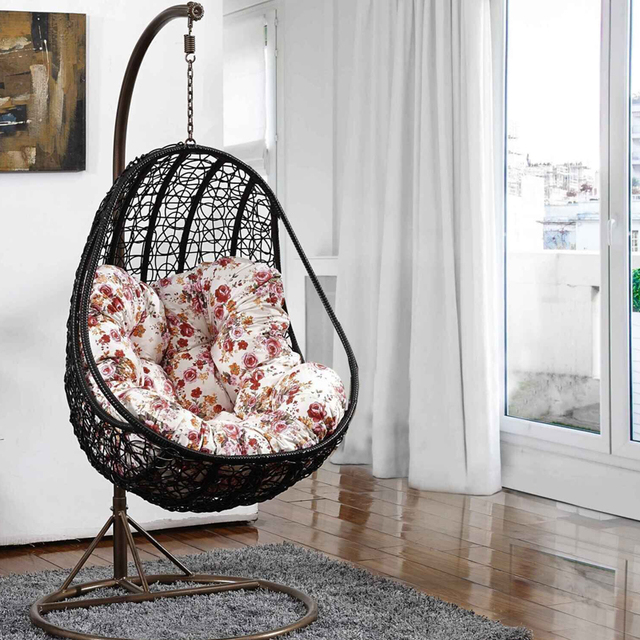 Egg Shaped Basket Swing Hanging Chair Dormitory Balcony Patio Outdoor  Wicker Leisure