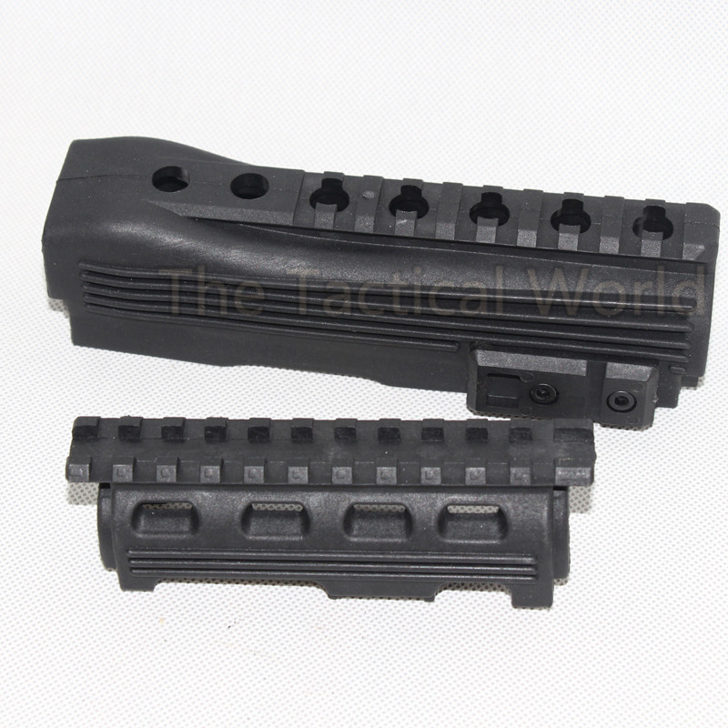 Hunting Airsoft Accessories Tactical Handguard AK 47 AK74 Strikeforce Polymer AK Series Handguard Upp lower Rails inserts Gear(China)