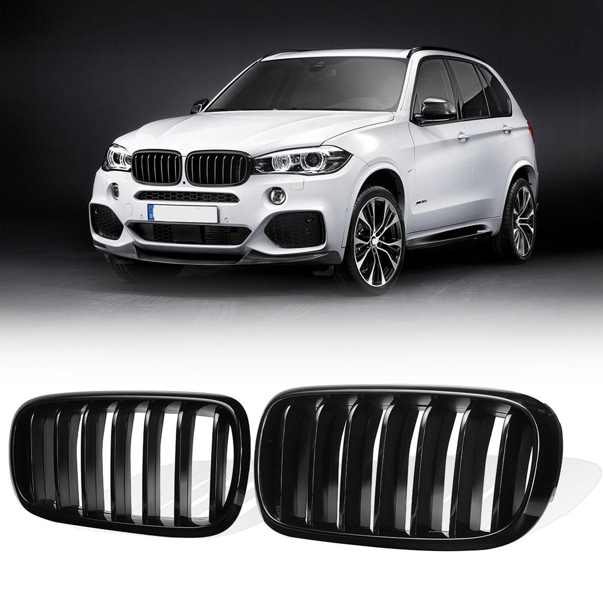 1 пара глянцевый черный матовый черный м Стиль спереди решетка радиатора для бампера гриль решетки BMW X5 F15 X6 F16 2014 2015 2016 2017 2018