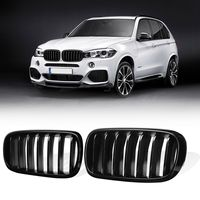 1 Pair Glossy Black Matte Black M Style Front Bumper Kidney Grill Grilles For BMW X5 F15 X6 F16 2014 2015 2016 2017 2018