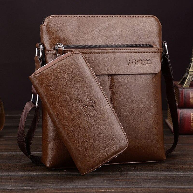 Mens Fashion Business PU Leather Shoulder Bags Crossbody Bag Luxury OL Travel Messenger Bags Big Tote Male Bags bolsas male