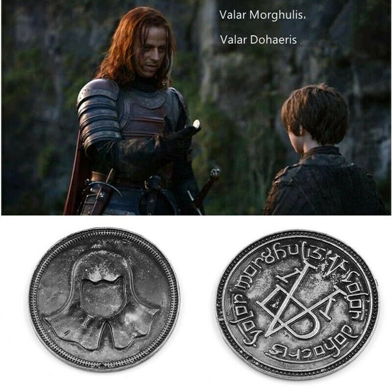 Game Of Thrones Cosplay Coin Faceless Men Cosplay Prop Fans Collection Gift Halloween Cosplay Drop Ship image