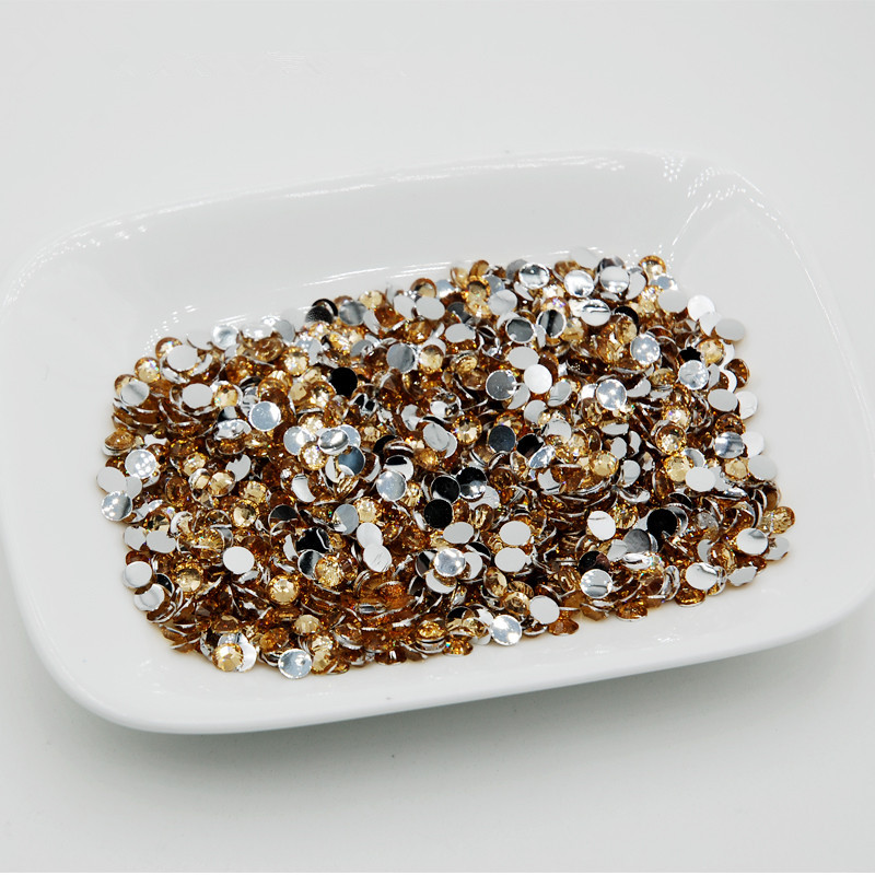 Promotions!5000pcs/lot Light Brown Color Nail art rhinestones for nails decorations Flat Back Non Hotfix Glue ondesign
