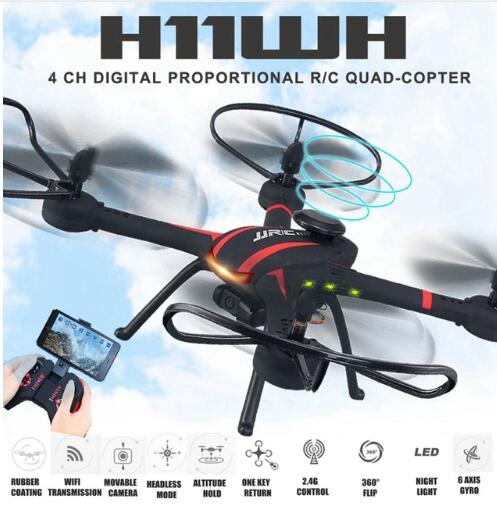 JJRC H11WH RC Drone with 2MP Wi-Fi Rotatable