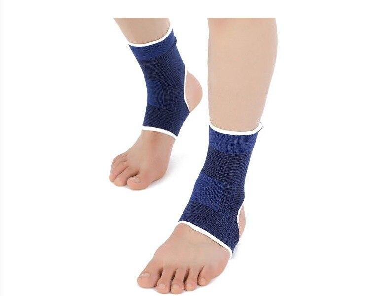 Fitness oda sıcak mavi ayak bileği ateli/bilek/dirsek/diz pedleri avuç korumak ayak bileği sürme donanımları