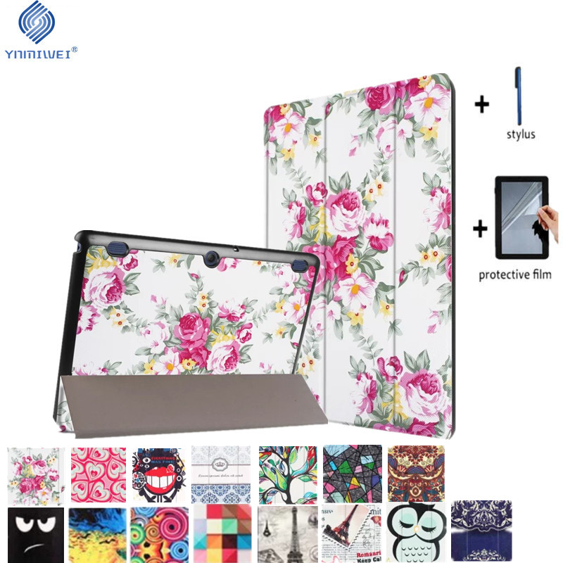 Tab 2 A10-70 Colorful Print Leather Case Cover for Lenovo Tab 2 a10-30 X30F X30L Magnet Case For LENOVO TAB 10 TB-X103F +Film for lenovo tab 2 a10 30 x30 case magnet stand pu leather case protective skin shell case cover for tab 2 a10 x30f x30l case