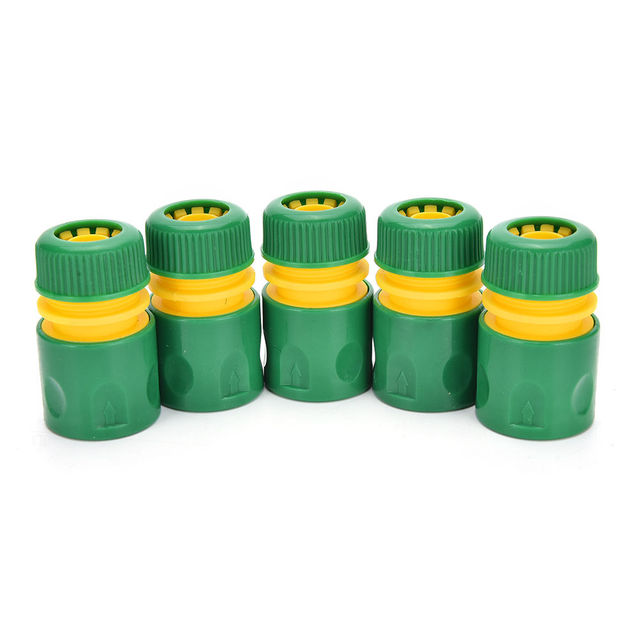 34mm 1/2″ Hose Pipe Fitting Set Quick Yellow Water Connector Adaptor Garden Lawn Tap Water Pipe Connector