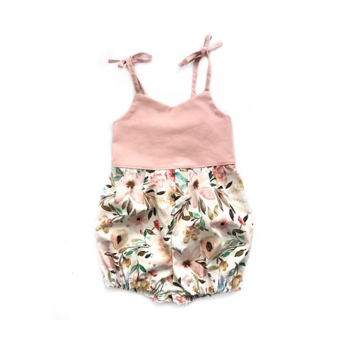 Baby Girl Newborn Toddler Summer Infant Kids Strap Floral Print Cotton Girls Sleeveless Jumpsuit Romper Playsuit 0-24m Outfits Can Be Repeatedly Remolded. Mother & Kids