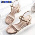 womens square heel s...