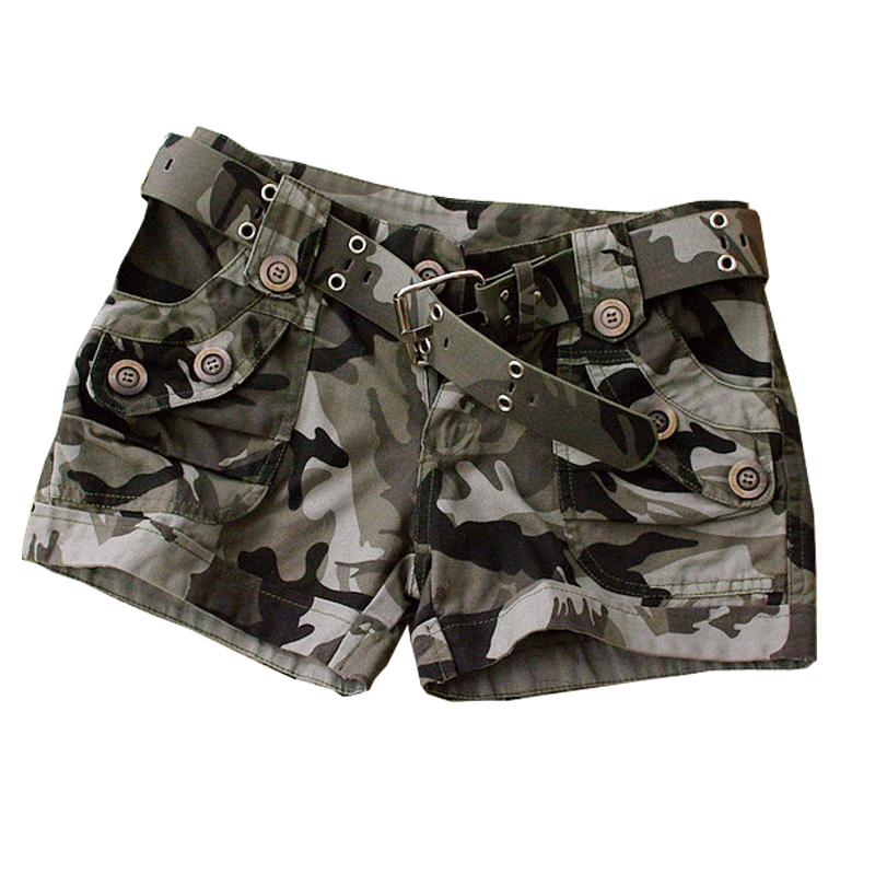 Женские камуфляжные шорты, повседневные шорты-карго, армейские шорты в стиле милитари, W484, лето 2020
