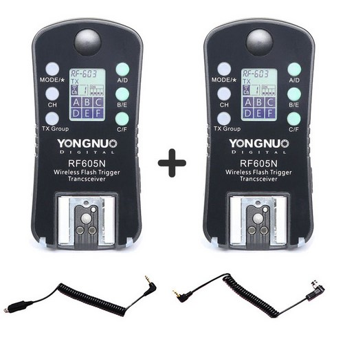 YONGNUO RF 605 RF605N RF 605N RF605 N Wireless Flash Trigger for Nikon upgrade version of
