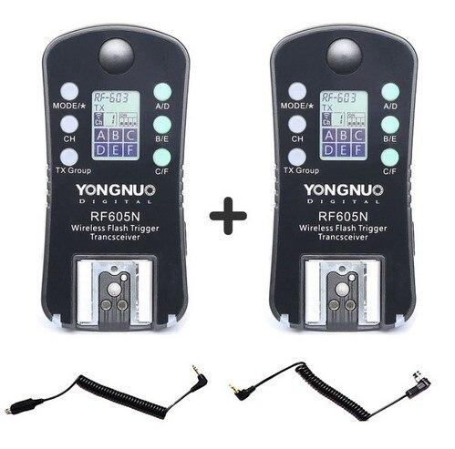 ФОТО YONGNUO RF-605N RF605N RF 605 Wireless Flash Trigger for Nikon D7100 D7000 D5300 D5100 D5000 D3100 D90 D80 D70 D800 D700 D300