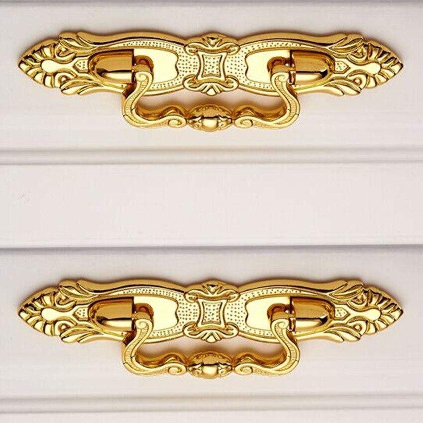 para puerta de armario muebles Tiradores de armario estilo europeo estilo vintage Oro K. 2 unidades