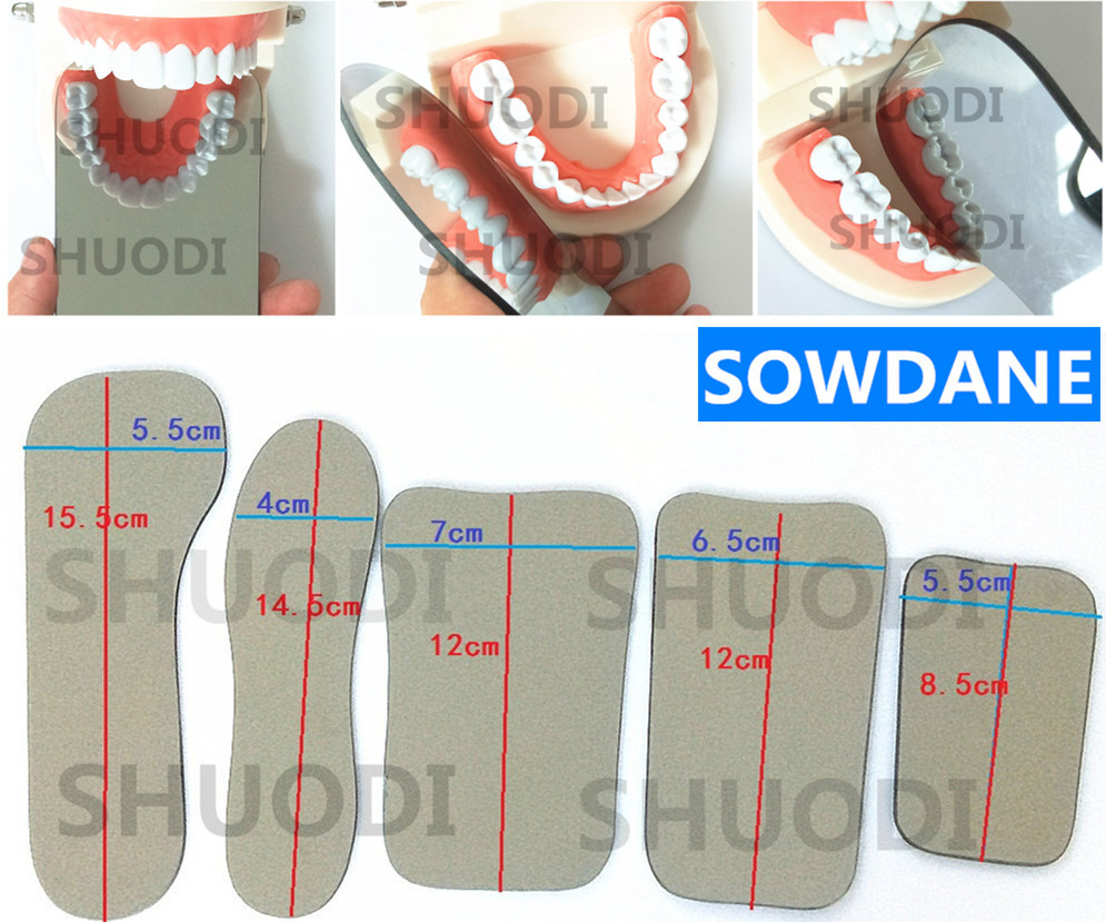 Double-Sides Dental Intraoral Occlusal Photographic Glass Mirror Oral Health Care Dental Orthodontic Mirrors Reflector
