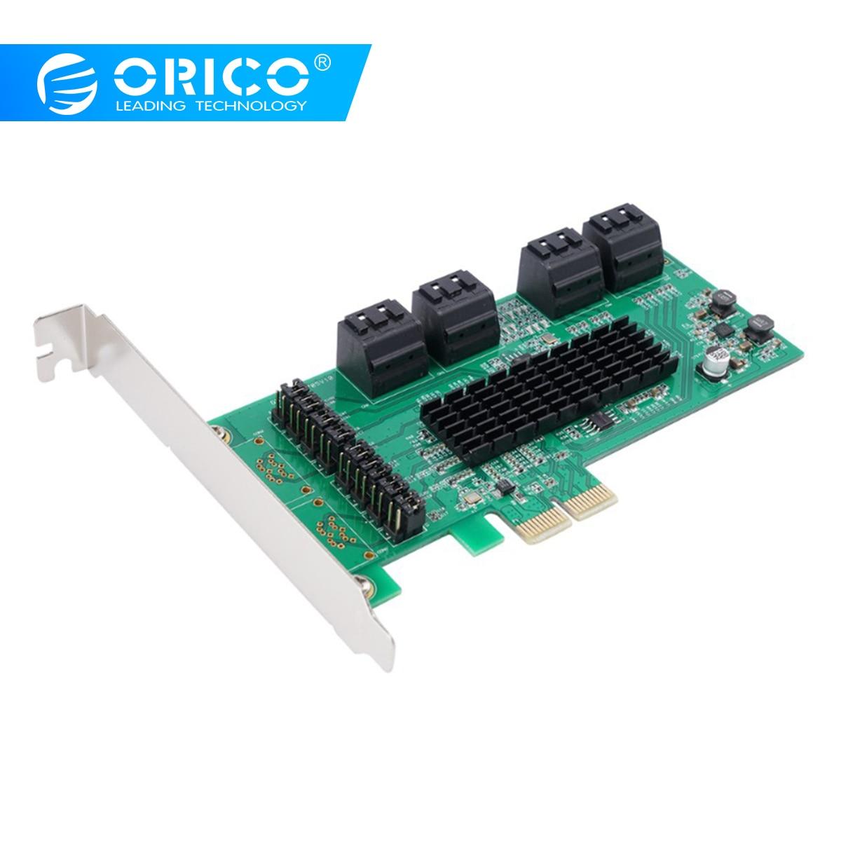 ORICO Porta 8 SATA3.0 PCI-E Adaptador de Cartão de Expansão 6 5gbps de Alta Velocidade Para Componentes de Computadores Desktop X1/X4/ x8/X16 PCI Express Card