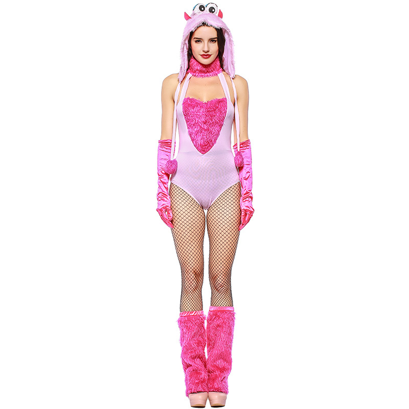 517edab6994a1 Cute Pink Monkey Adult Women Halloween Costume Carnival Day Animal Cosplay  Furry Costumes Sexy Catwomen Clothes Outfit-in Sexy Costumes from Novelty  ...