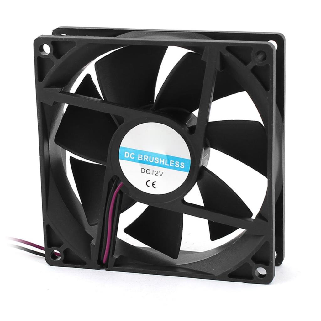 16 New 90mm x 25mm 9025 2pin 12V DC Brushless PC Case CPU Cooler Cooling Fan