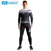 INBIKE Sports Wear Mens Cycling Jersey Polyester Cycling Clothing Bike Shirt Summer Quick Dry Mtb Bicycle Wear Ciclismo