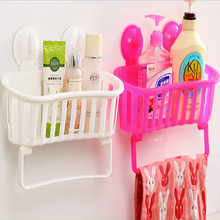High Quality Wall Mounted Storage Rack with Large Suction Cups Bathroom Shower Storage Shelf Kitchen Corner Holder Rack
