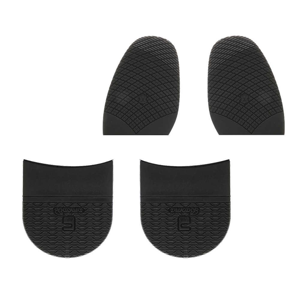 1 takım Unisex kauçuk topuklu ve tutkal yarım tabanlar kaymaz ayakkabı bakım onarım siyah açık ayakkabı yürüyüş