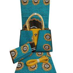 Popolare di alta qualità sacchetto di mano africano olandese stampe cera 6 yards tessuto cera olandese per i Vestiti da cucire H17080201