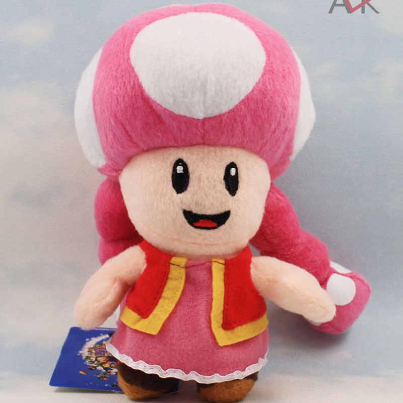 17 cm Sorella Super Mario Bro Funghi Peluche Molle Farcito Bambole Figure Giocattolo