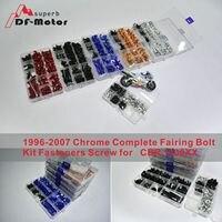 Bolt Kit for HONDA 1996 2007 Chrome Complete Fairing Bolt Kit Fasteners Screw CBR 1100XX Universal Fairing