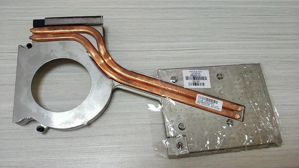 Cooler for HP elitebook 8770W laptop graphics card cooling heatsink 696435 001 Double tube