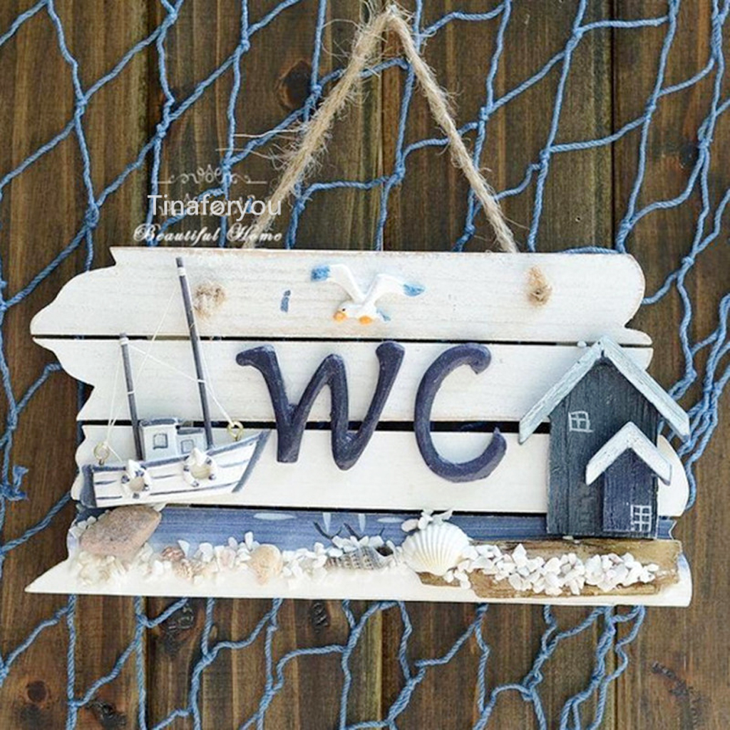 New Hot Hand Carved Hanging Wooden WC Bathroom Plaque Art Sign Board Lighthouse Home Door Cafe Decorations. Hanging Bathroom Sign Reviews   Online Shopping Hanging Bathroom