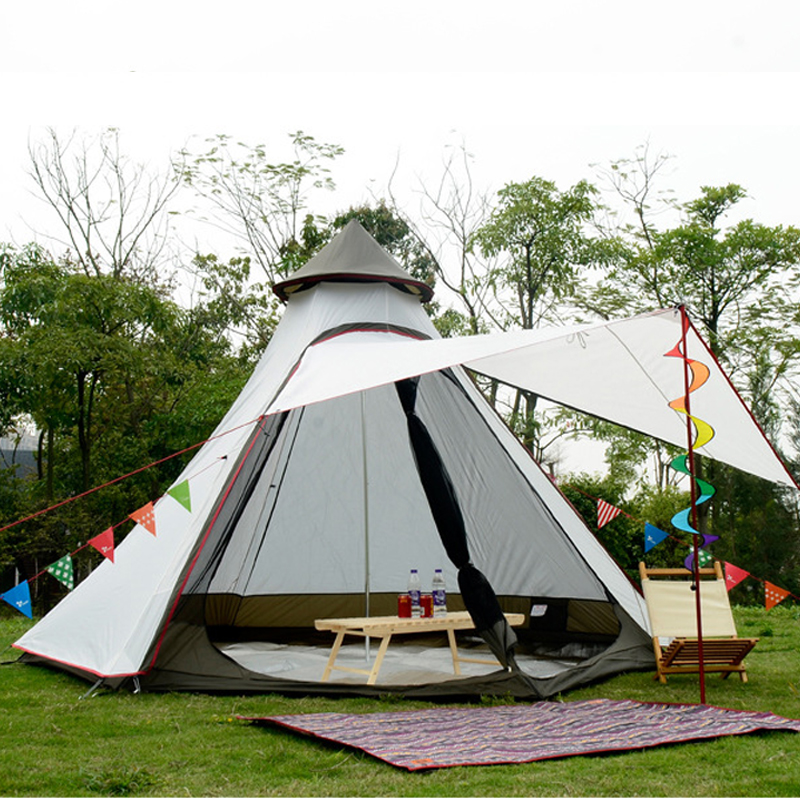 Large Camping Tent 4 6 Person Yurt Double Layer With Mosquito Net Garden Outdoor Picnic Party Fishing Family Tents For Tourist