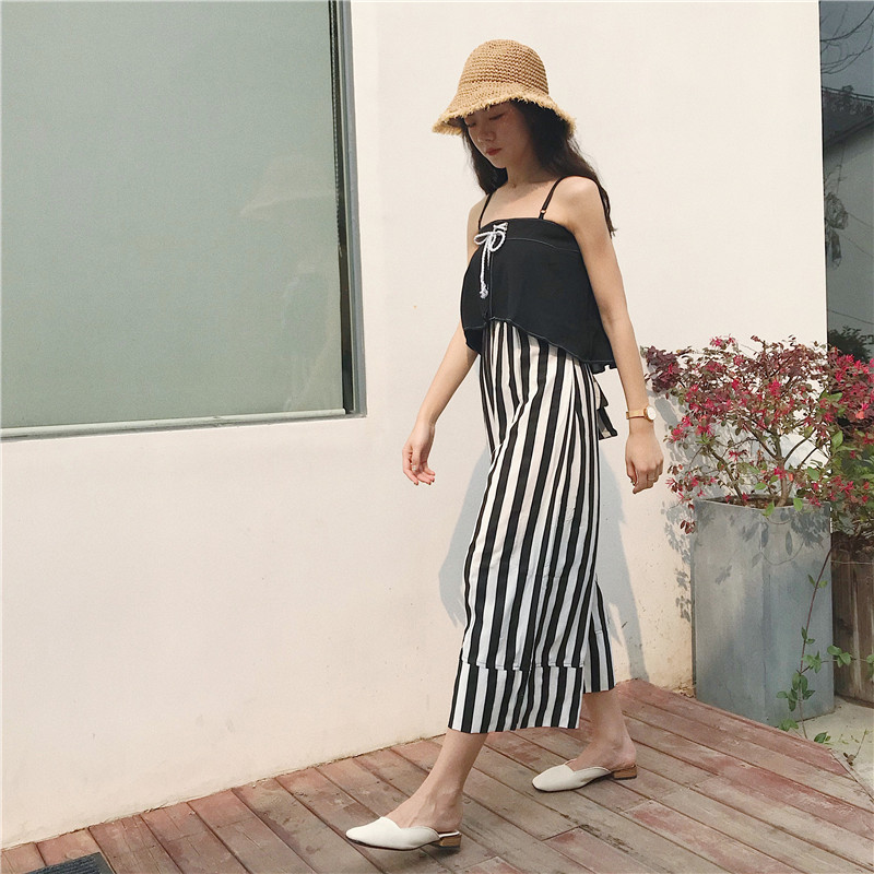 0a22f948579b 2019 Oversize Jumpsuit High Waist Wide Leg Jumpsuit Female Off ...