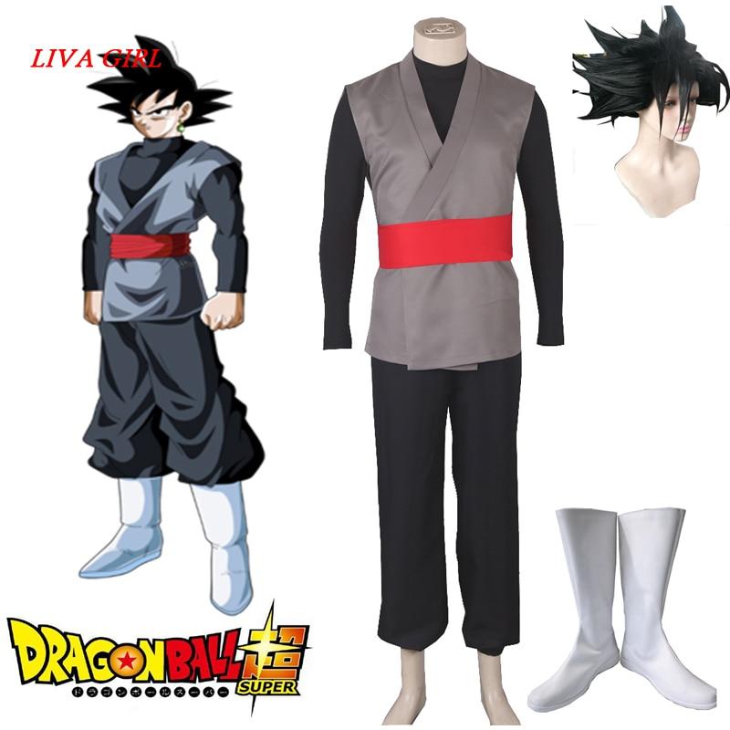 2017 Dragon Ball Super Goku Black Zamasu Merged Potara Fusion Cosplay Costume Outfit