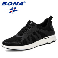 BONA 2019 Spring Men Shoes Sneakers Casual Breathable Trendy Air Mesh Shoes Zapatillas Hombre Deportiva Sapato Masculino Adulto