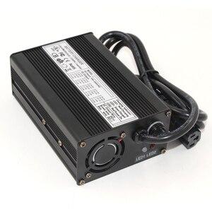 Image 4 - Cargador de iones de litio de 29,4 V y 5A para 7S, 24V, 25,9 V, con ventilador de refrigeración, cargador de batería de litio inteligente de 29,4 V