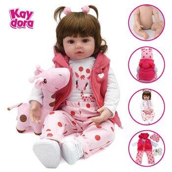 47 см/55 см Силиконовая Возрожденный ребёнок куклы детские живые Bebe как настоящая Boneca реалистичные девочка кукла lol игрушки для детей Menina >> KAYDORA Official Store