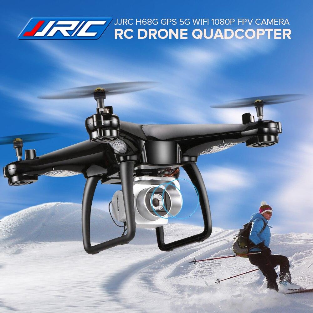 JJRC H68G GPS 5G WiFi App Controle RC Drone com Câmera FPV 1080 P Quadcopter RTF Duplo GPS Altitude segure o Waypoint UAV Helicóptero
