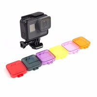 GoPro Hero 5 Housing case New 6 Colors Underwater Diving Dive Filter Lens Cover Cap For GoPro 5 Sport Action Camera Accessories