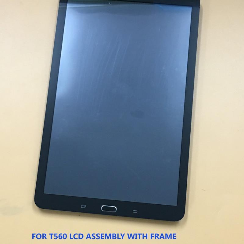 For Samsung Galaxy Tab E 9.6 T560 SM-T560 SM-T561 Touch Screen Sensor Digitizer Glass + LCD Display Monitor Panel With Frame планшет samsung galaxy tab e 9 6 8gb 3g black sm t561