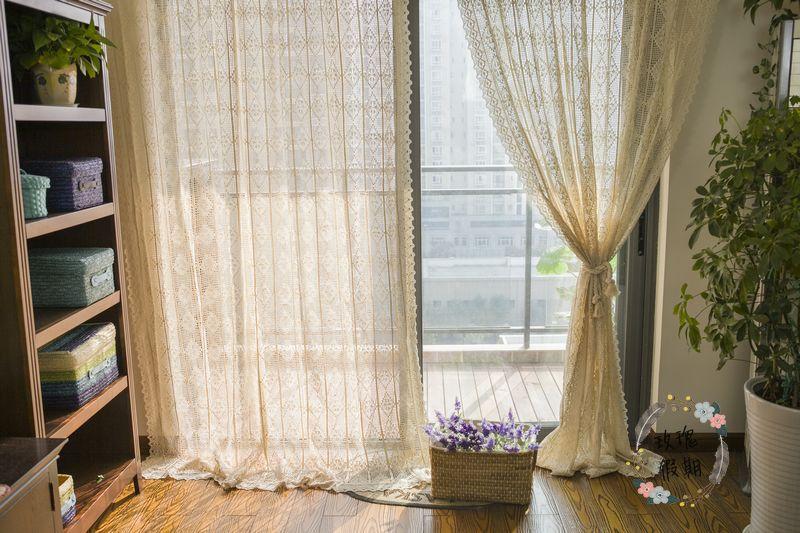 100 Baumwolle Amerikanische Land Handgemachte H Kelarbeit Vorhang.  Wunderbar Vorhange Wohnzimmer ...