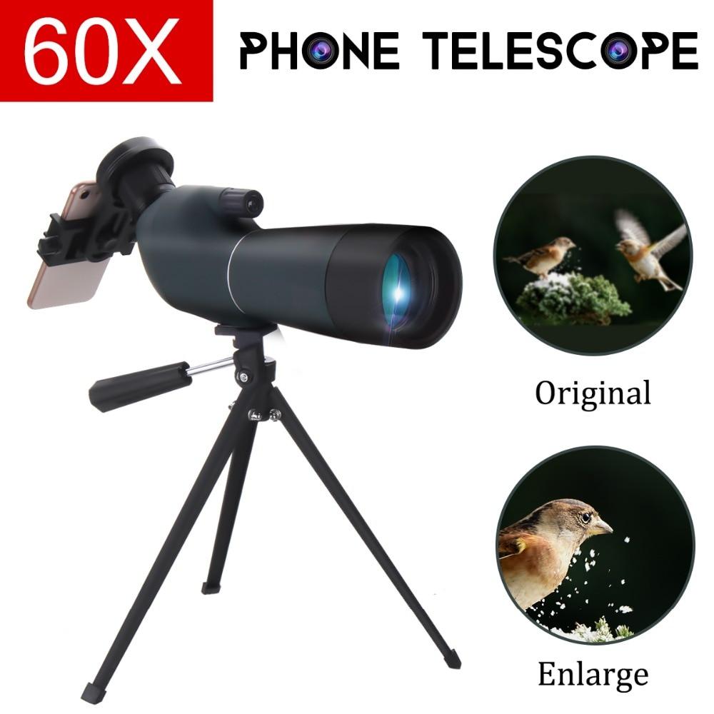 Zoom lens per smartphone 20 60x60 Impermeabile Con Il Treppiedi Del Telefono mobile Adattatore di Visione Notturna di HD Telescopio del telefono lente para celular - 6