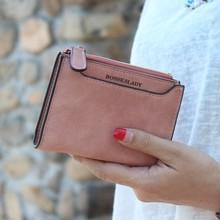 Soild matte pu leather women wallet small printing letter female purse zipper coin wallet multifunction women card holders
